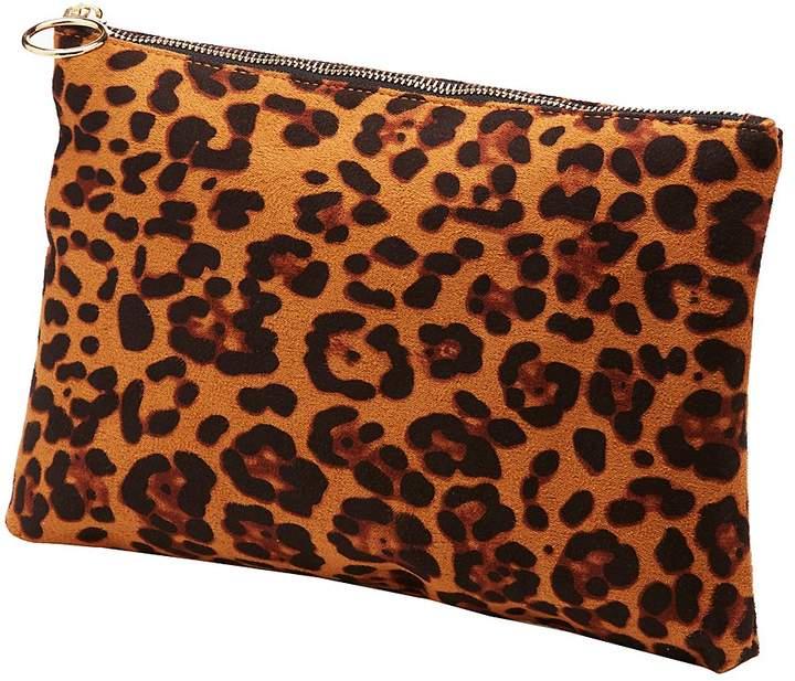 Charlotte Russe Leopard Zipper Clutch