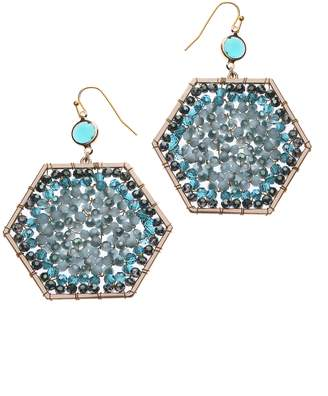 Nakamol Design Beaded Octagon Drop Earrings