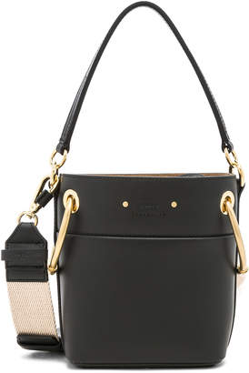 Chloé Mini Roy Calfskin Bucket Bag in Black | FWRD