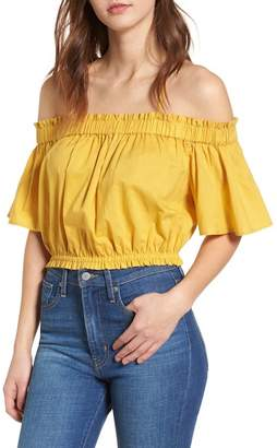 BP Strappy Cold Shoulder Crop Top
