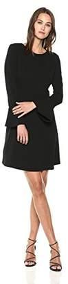ECI New York Women's Long Sleeve Solid Shift Dress