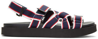 MSGM Tricolor Multi Strap Wrap Sandals