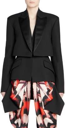 Alexander McQueen Scarf Drape Tuxedo Jacket