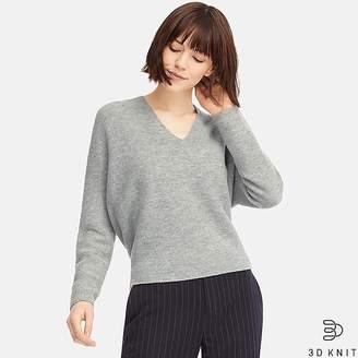 Uniqlo Women's 3d Premium Lambswool Sweater