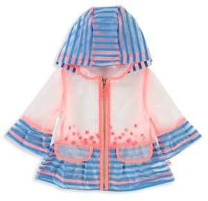 Billieblush Baby's& Toddler's Hooded Striped Raincoat