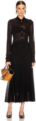 Jil Sander Pleated Long Sleeve Dress in Black | FWRD