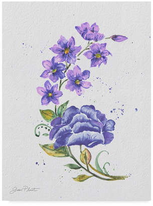 "Jean Plout 'Watercolor Flowers 6' Canvas Art - 14"" x 19"""