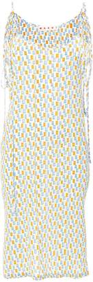Marni graphic print slip dress