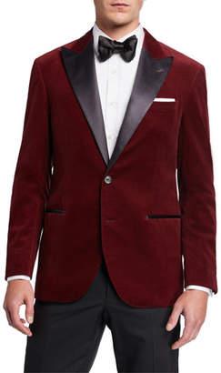 Brunello Cucinelli Men's Peak-Lapel Velvet Dinner Jacket