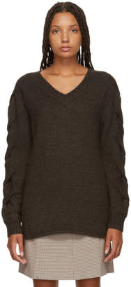 See by Chloe Brown V-Neck Sweater