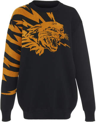 Givenchy Cat Wings Graphic Jacquard-Knit Sweater