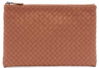 Bottega Veneta - Intrecciato Leather Pouch - Womens - Nude