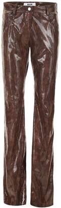 MSGM Python Printed Trousers