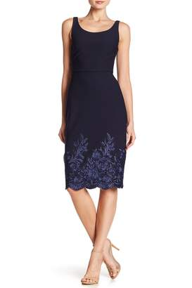 Betsey Johnson Embroidered Midi Dress