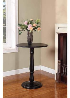 Coby Pilaster Designs Black Wood 14-Inch Round Accent Side Plant Stand Display Table