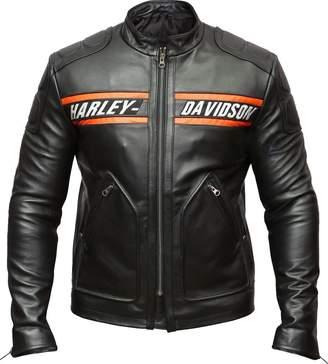 Harley-Davidson The Leather Empire Biker Genuine Leather Jacket Style Motorcycle Goldberg WWE (L)