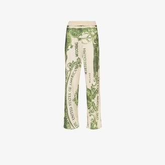 Moschino dollar bill print track pants