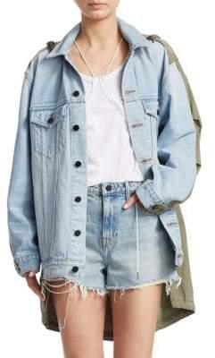 Alexander Wang Daze Mix Cargo & Denim Jacket