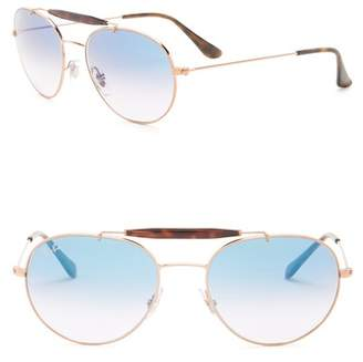 Ray-Ban Highstreet 53mm Aviator Sunglasses