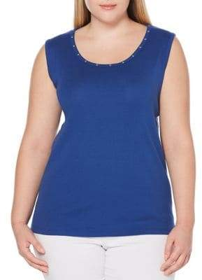 Rafaella Plus Sleeveless Cotton Tank Top