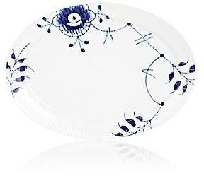 Royal Copenhagen Blue Fluted Mega Porcelain Oval Plate-Blue Fluted Mega