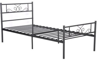 Cheerwing Easy Set-up Premium Metal Bed Frame Platform Box Spring Replacement with Headboard and Footboard ,Multiple Size