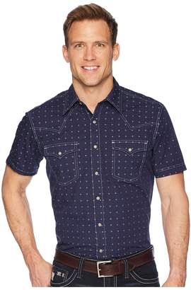 Wrangler Short Sleeve Retro Premium Shirt Dobby Men's Clothing