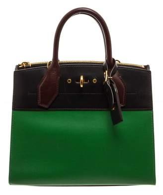 Louis Vuitton City Steamer Green Leather Handbags