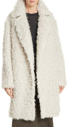 Vince Shaggy Faux Fur Coat