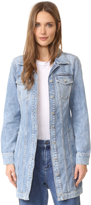 7 For All Mankind Long Trucker Jacket $299 thestylecure.com