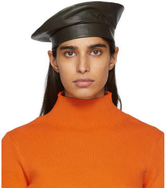 CLYDE Etudes Green Edition Leather Beret