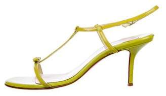 Christian Louboutin Patent Leather Ankle-Strap Sandals