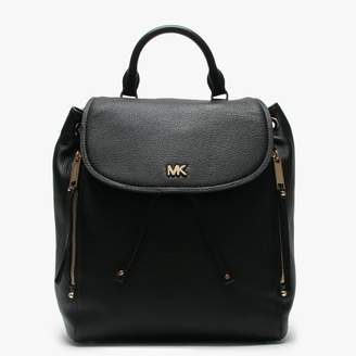 Michael Kors Medium Evie Black Leather Backpack