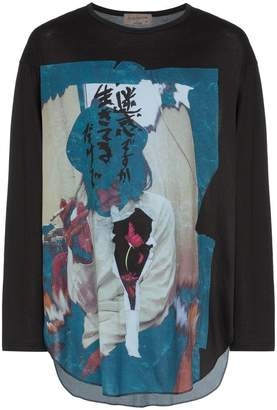 Yohji Yamamoto Printed long-sleeve T-Shirt