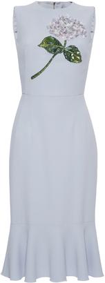 Dolce & Gabbana Floral-Embellished Dress $2,675 thestylecure.com