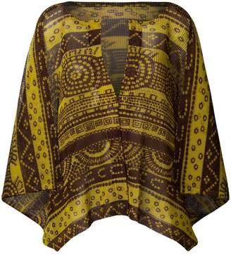 Pleats Please Issey Miyake printed cape top