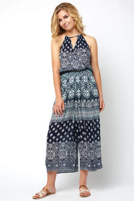 Patrons Of Peace Surplice Border Print Jumpsuit