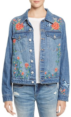 BLANKNYC Embroidered Denim Jacket - 100% Exclusive $148 thestylecure.com