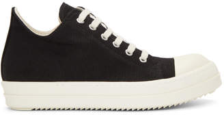 Rick Owens Black Canvas Low Sneakers