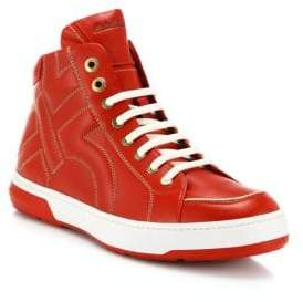 Salvatore Ferragamo Nicky Leather High-Top Sneakers