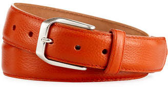 W.KLEINBERG W. Kleinberg Pebbled Calfskin Leather Belt