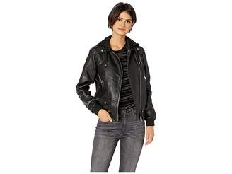 Steve Madden Pu Moto Jacket Women's Coat