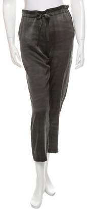 Raquel Allegra Cropped Silk Pants w/ Tags