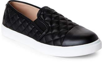 Steve Madden Black Zander Quilted Slip-On Sneakers