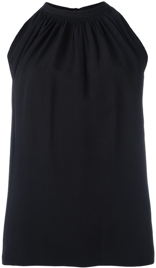 Helmut Lang Helmut Lang gathered front tank top