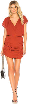 Krisa Drape Skirt Surplice Mini Dress
