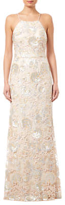Adrianna Papell Halterneck Sequin Dress