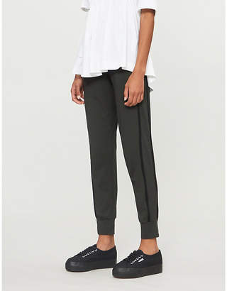 E.m. ME AND Side-stripe modal-jersey jogging bottoms