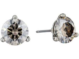 French Connection 8mm CZ Stud Earrings