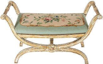 One Kings Lane Vintage French Needlepoint Bench